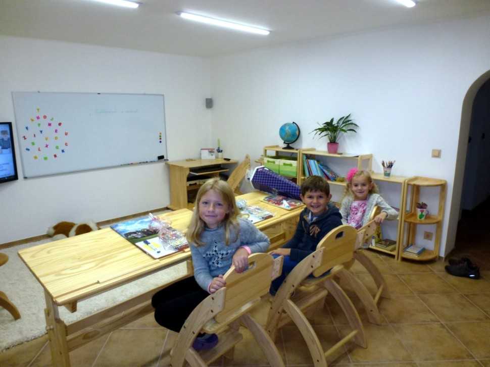 učebna pro individuální vzdělávání spolku Vzdělávání sradostí