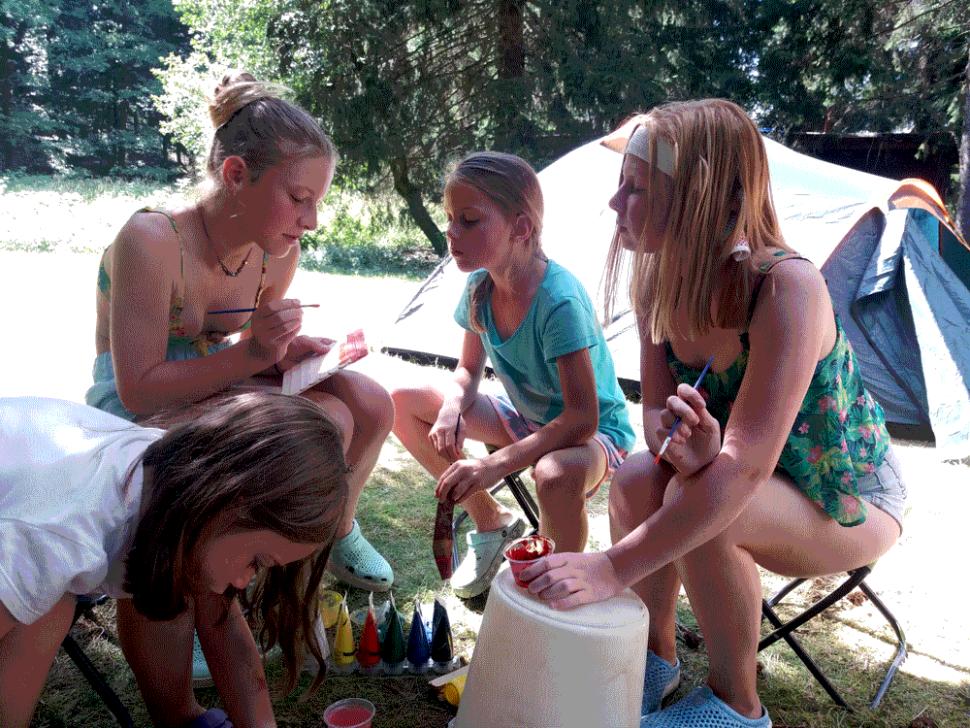 letní dětský tábor 2020 malování