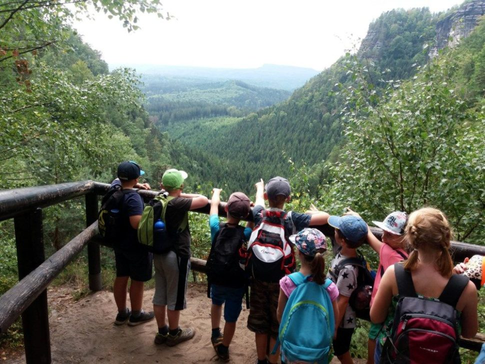 letní dětský tábor 2020 výlet doNP České Švýcarsko